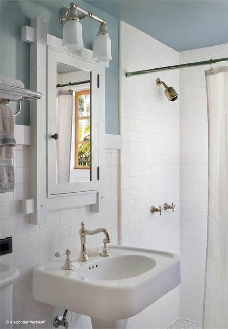 Unique Craftsman Bathroom by HartmanBaldwin Design Build