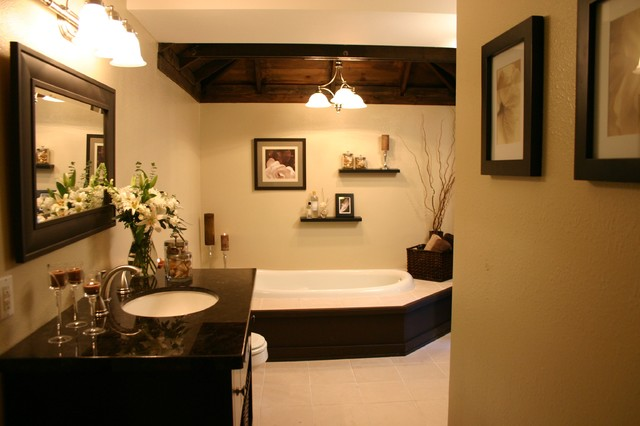 Dated Bath to Elegant Spa contemporary bathroom