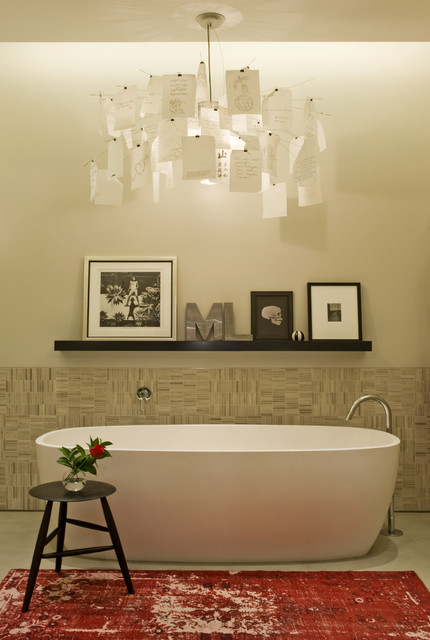 David Howell Design industrial-bathroom