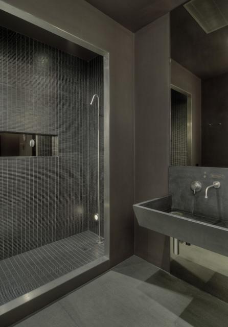 David Howell Design industrial-bathroom