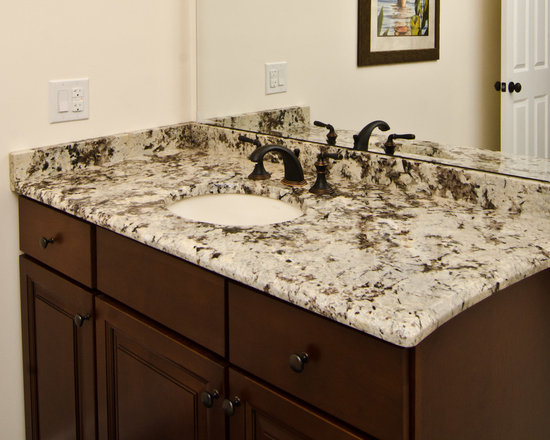 Brown granite bath design ideas pictures remodel decor for Brown marble bathroom accessories