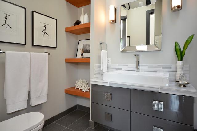 Dawna Jones Design contemporary-bathroom