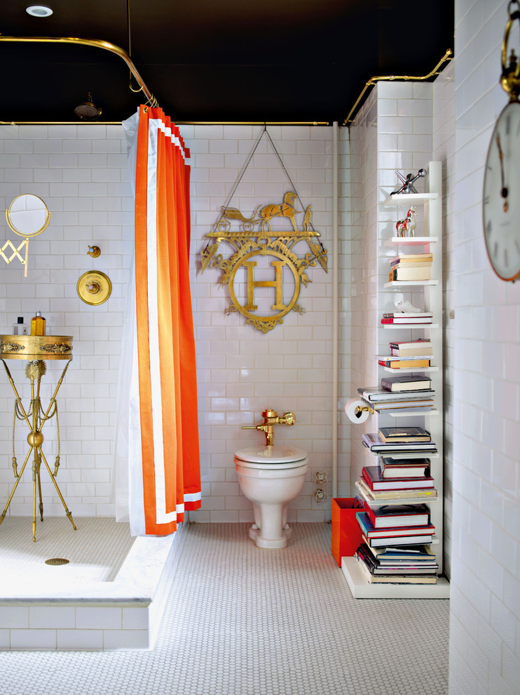 Inspiration for an eclectic bathroom remodel