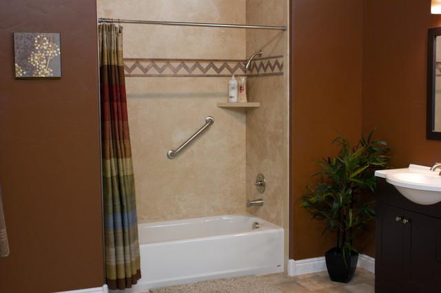 decorative interior shower tub wall panels