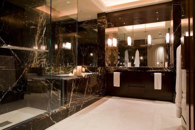 Deep Rich Moody Contemporary Bathroom Dc Metro By Bartolomei Company Interior Design