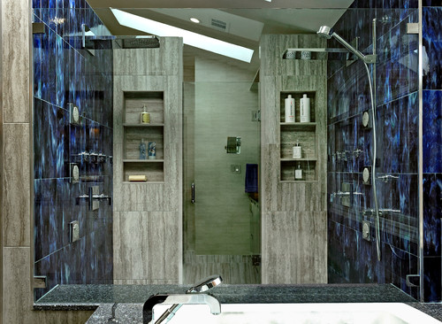 Add a walk-in shower to your master bath spa