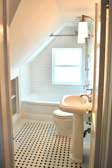Del ray cape cod renovation traditional bathroom dc for Cape cod remodel ideas