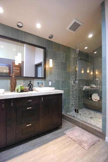 Huntington Beach Master Bath contemporary-bathroom