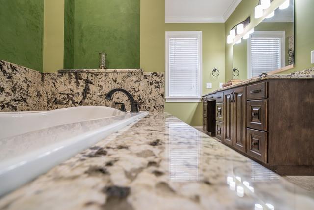 Delicatus White Granite Bathroom Countertops Traditional