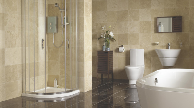 B And Q Bathroom Tile Ideas : Deluvio shower enclosure contemporary bathroom other