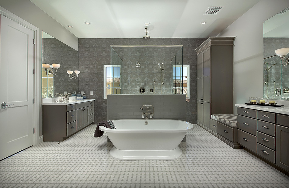 Deluxe modern master suite with a traditional twist ...