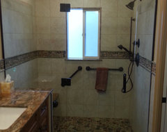 Denville, NJ Barrier free master bathroom traditional-bathroom