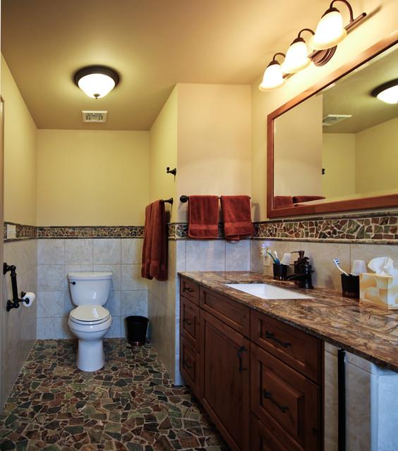 Denville, NJ Barrier free master bathroom traditional-bathroom
