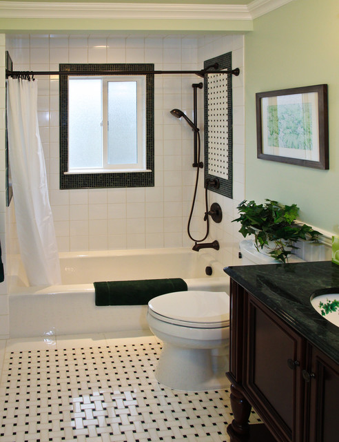 Traditional Bathroom by Katy Repka Design 12 Gorgeous Black and White Bathrooms
