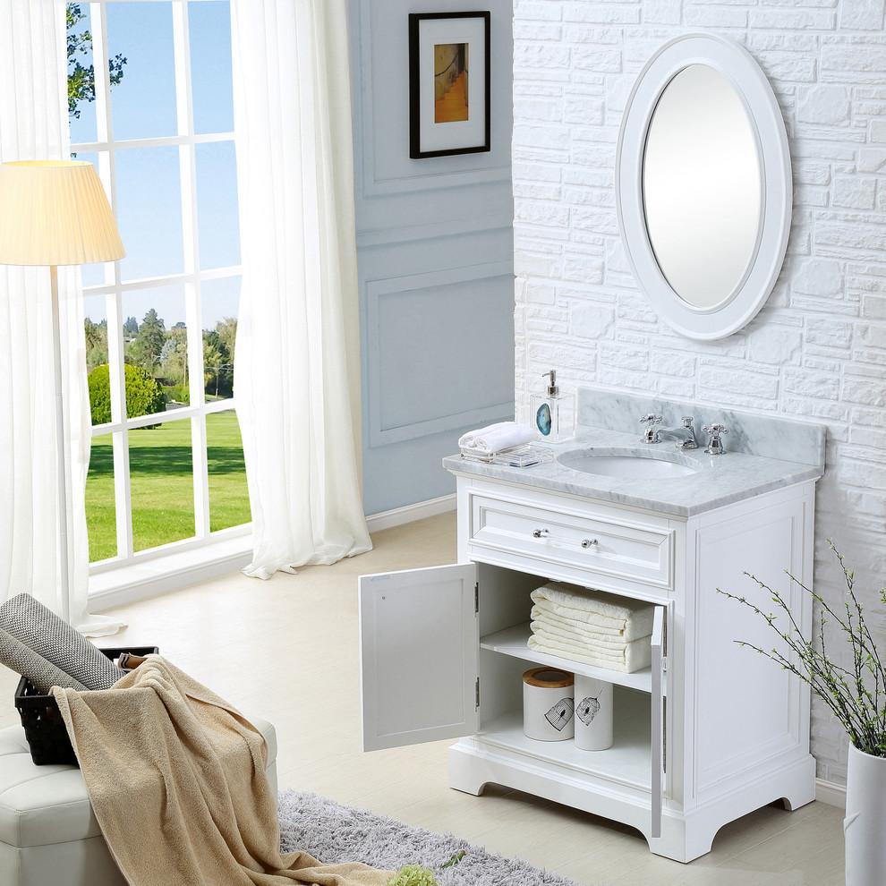 """Derby 30"""" White Bathroom Vanity - Bathroom - Los Angeles ..."""
