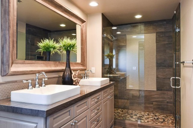 Desert Highlands Remodel Contemporary Bathroom Phoenix By Cabinet Solutions Usa