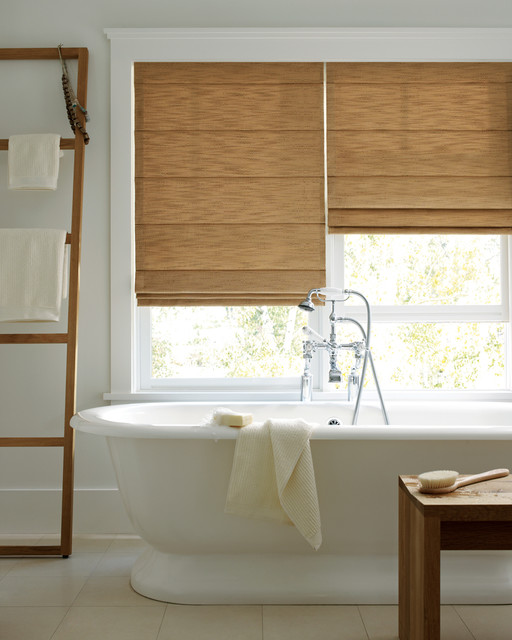 Designer Bathroom Blinds design studio roman shade - modern - bathroom - minneapolis -