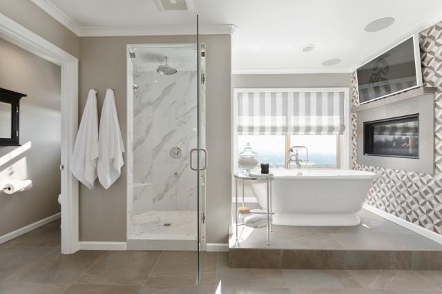 Designer Digs Portland Master Bath Remodel Transitional