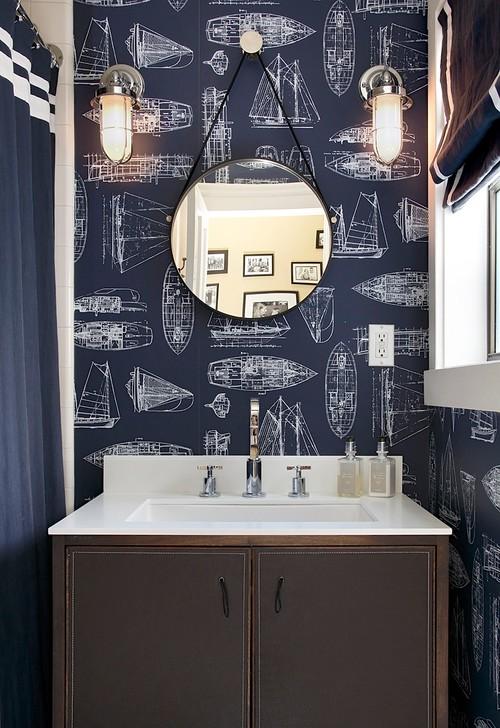 modern sailboat wallpaper