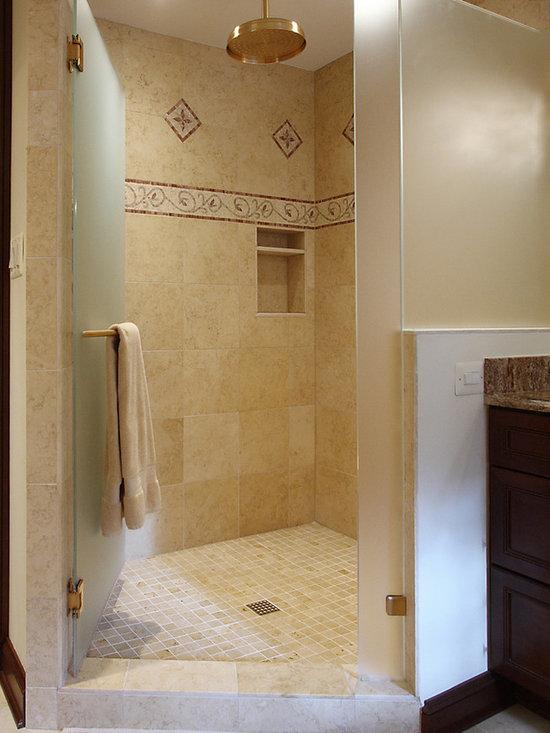 Travertine 2x2 shower floor home design ideas pictures for Bathroom design 2x2