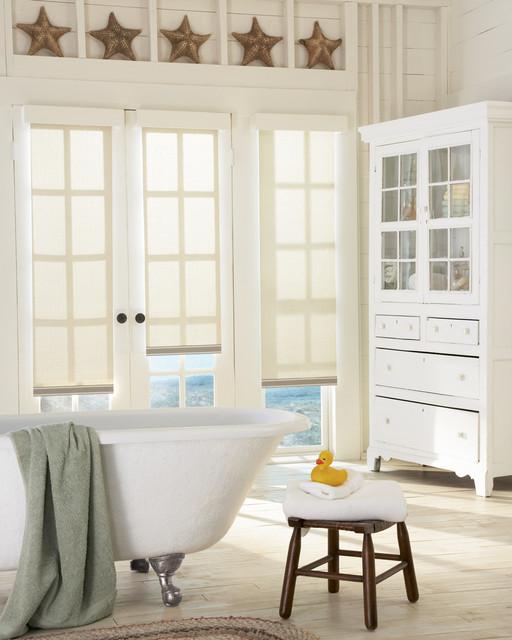 Designer Roller Shades - Farmhouse - Bathroom - portland - by Premier Window Coverings