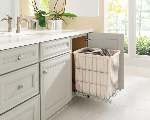 Bathroom Vanity Cabinet With Built In, Bathroom Cabinet With Built In Laundry Hamper