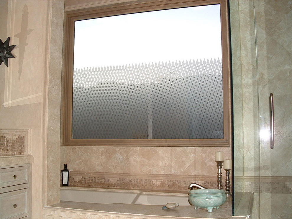 Diamond Grid Bathroom Windows Frosted Glass Designs Privacy Glass Modern Bathroom Other By Sans Soucie Art Glass Houzz