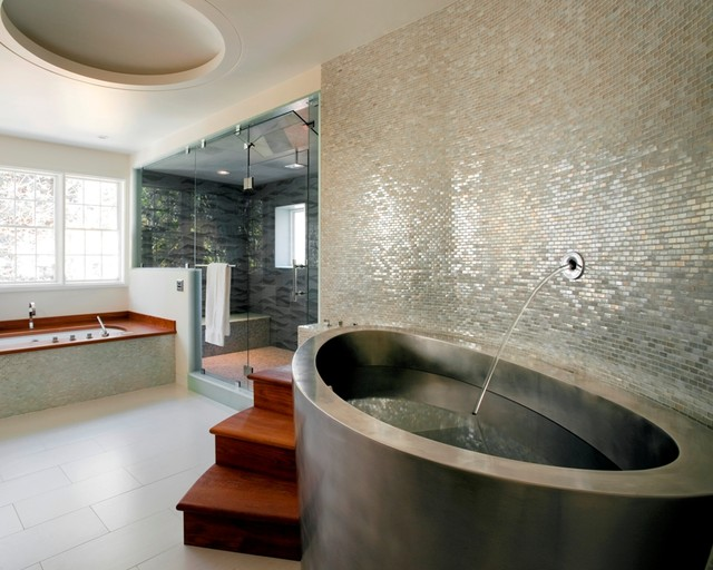 Diamond Spas Stainless Steel Japanese Elliptical Bath contemporary bathroom
