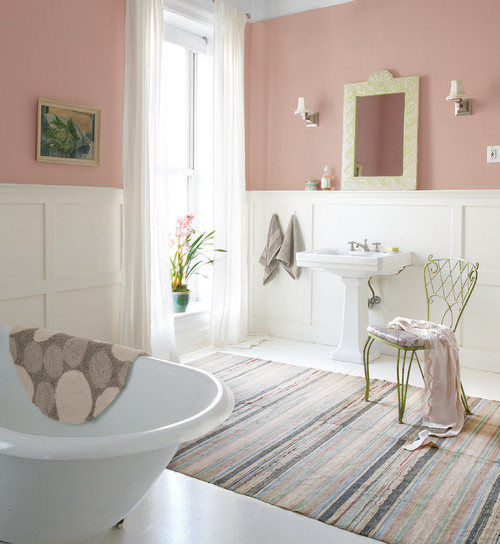 Charming Bedroom Wall Pink