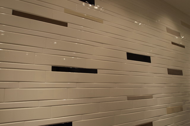 Dimensional Wall Tile Contemporary Bathroom Other Metro By Horizon Italian
