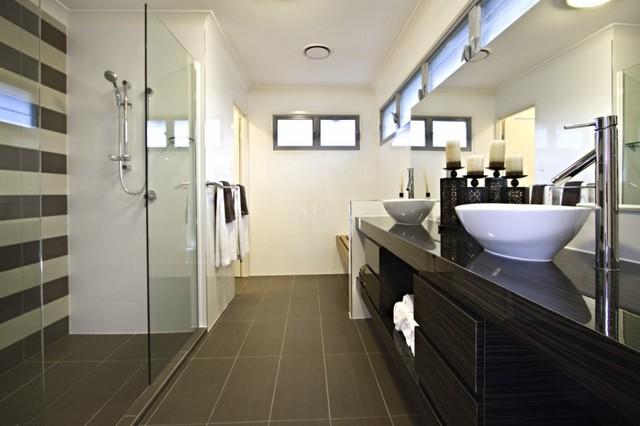 Display for sunstate homes contemporary bathroom for Bathroom design courses