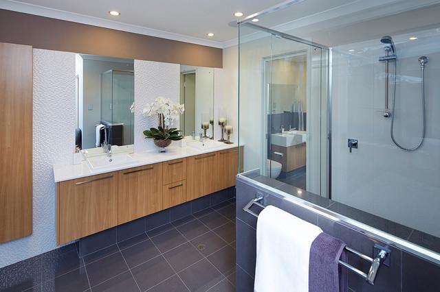 Display home the meridian contemporary bathroom for Bath remodel ventura