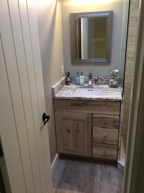 distressed cabinets for kitchen and bath beach style bathroom