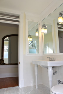 DIY vintage-theme bath - Traditional - Bathroom - philadelphia - by Restoring our 1890 Victorian