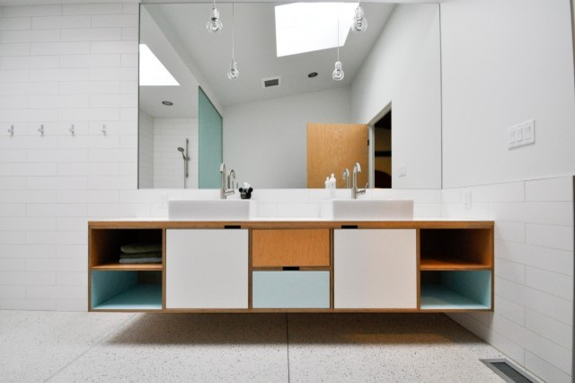 DJ vanity - Modern - Bathroom - seattle - by Kerf Design
