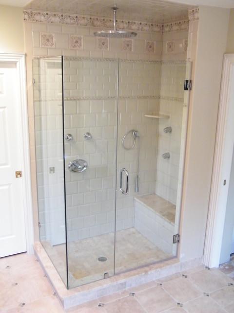 Door, Panel, Return traditional-bathroom