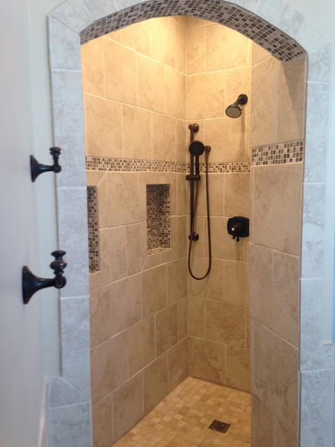 Doorless Shower Bathroom Dc Metro By Thomas Martins Custom Remodeling
