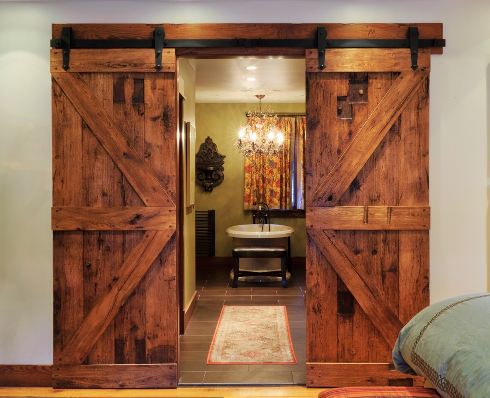 Doors & Hardware - Rustic - Bathroom - Kansas City - by ...