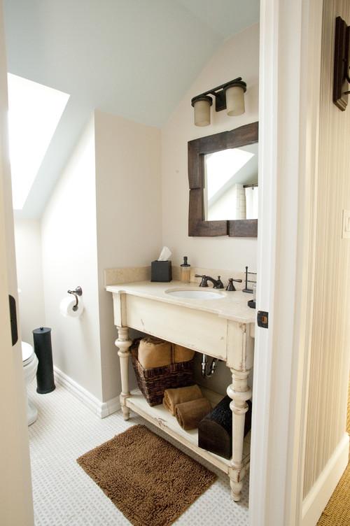 Dormers traditional bathroom