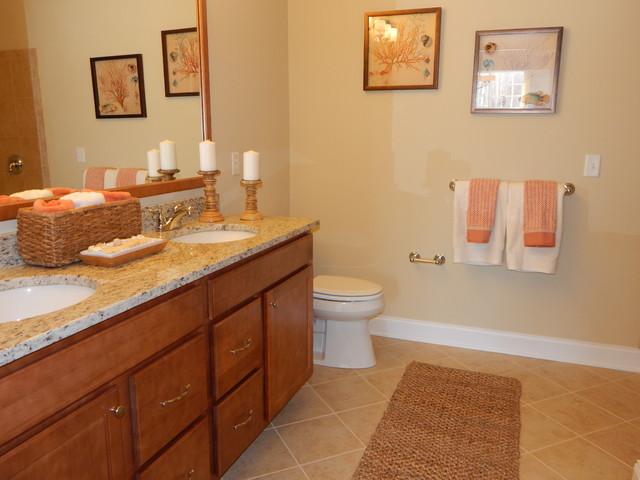Dorwood model home master bathroom beach style for Beach house master bathroom
