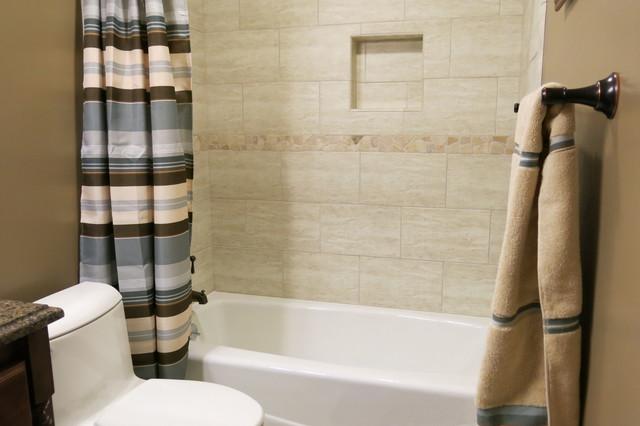 Double bathroom remodel in lenexa ks traditional for Bathroom remodel kansas city