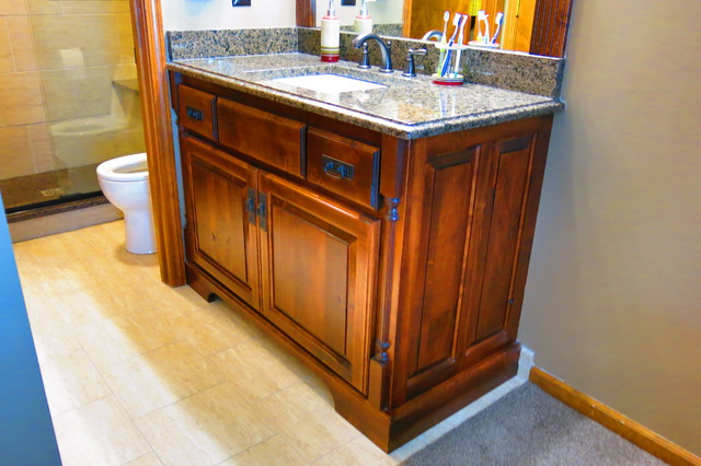 Double Bathroom Remodel In Lenexa Ks Traditional Bathroom Kansas City By Johnson County