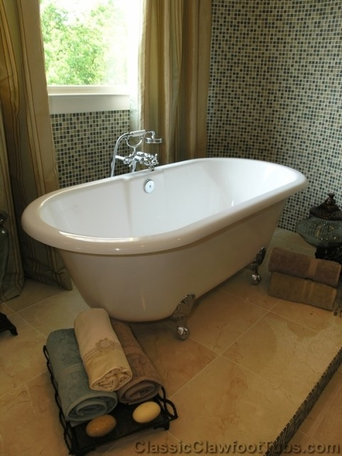 Double Ended Clawfoot Tub On A Platform Traditional