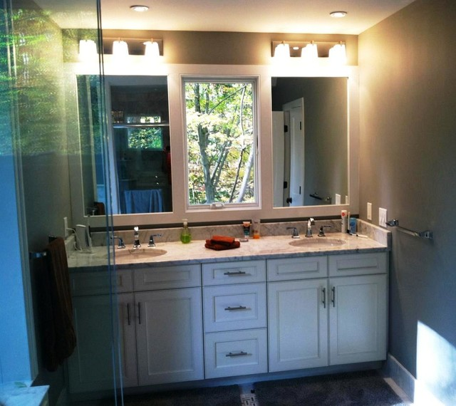 Double Master Vanity with center window