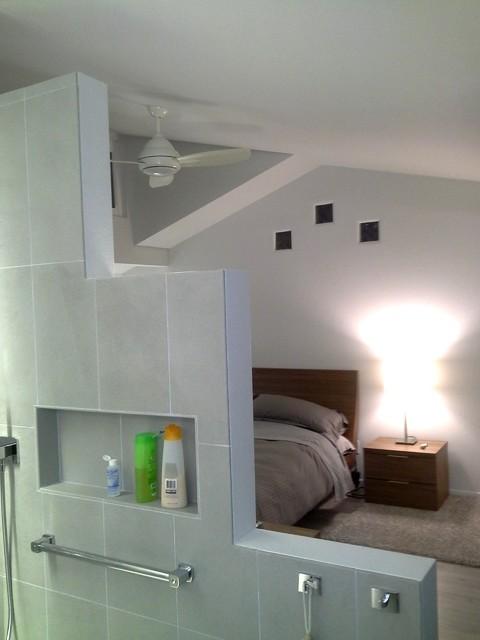 Double Showers contemporary-bathroom