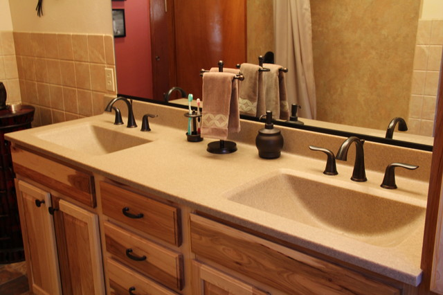 Double sink bathroom remodeling job dallas pa for Bath remodel dfw