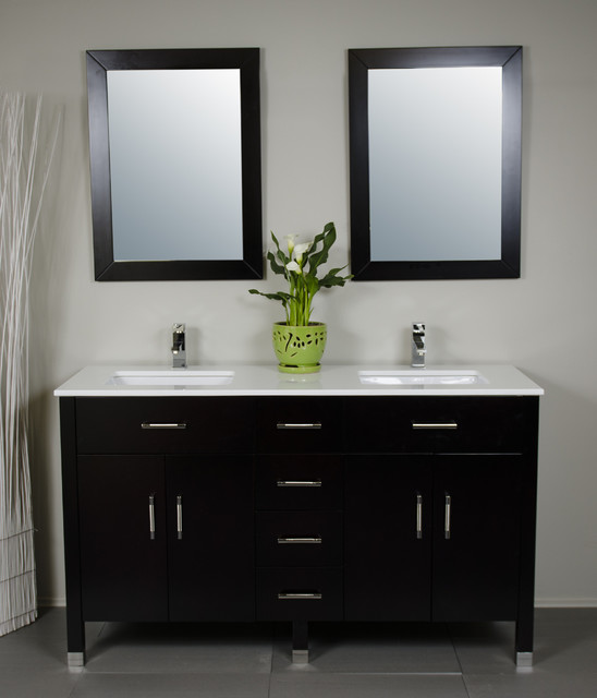 Double Sink Vanities Contemporary Bathroom Vancouver