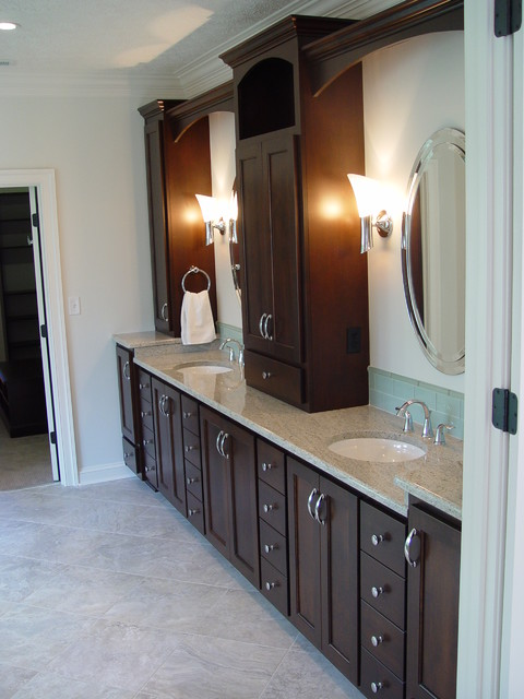 Double Sink Vanity, Oval Mirrors modern bathroom
