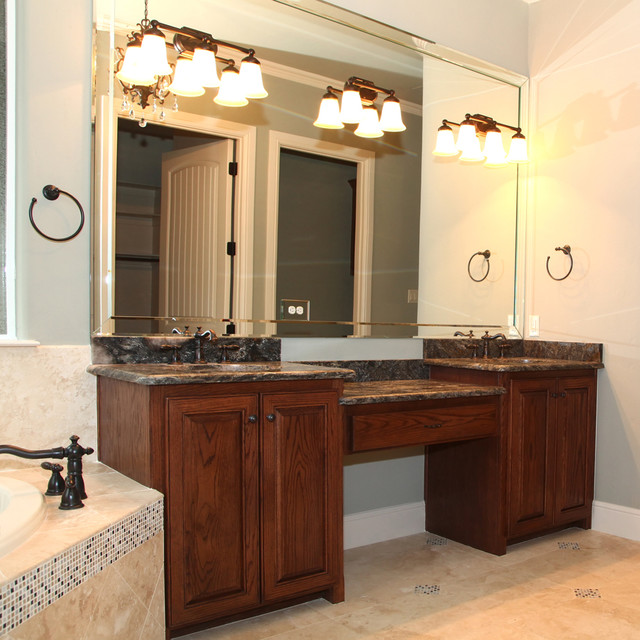 Double Vanity With Granite Countertops