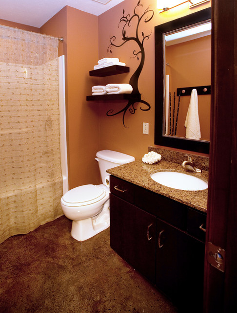 Downtown condo 2 traditional bathroom wichita by Bathroom design for condominium